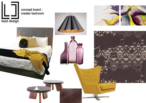 Lead Design mood board bedroom