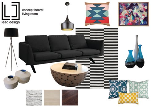 Lead Design mood board living room